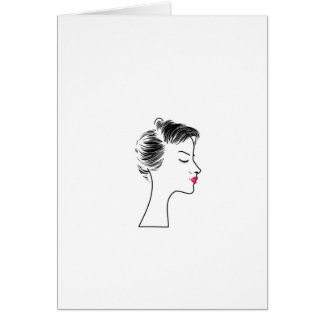 lady with short hair card
