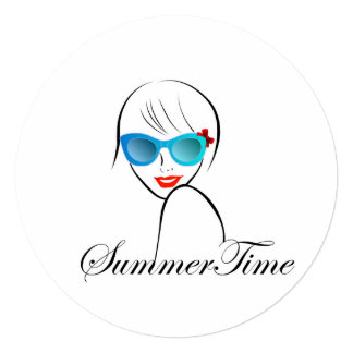 Lady with Style for summer time Card