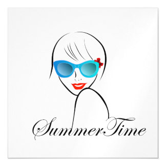 Lady with Style for summer time Magnetic Card