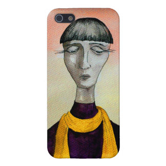 Lady with the mustard scarf iPhone SE/5/5s case
