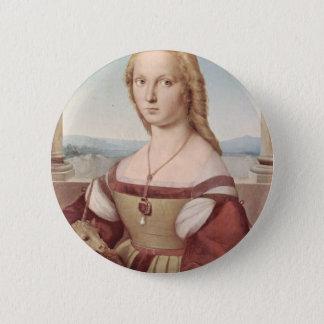 Lady with the Unicorn Raphael Santi Pinback Button