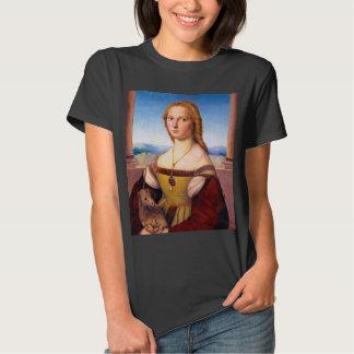 Lady with the Unicorn Raphael Santi portrait paint T Shirt