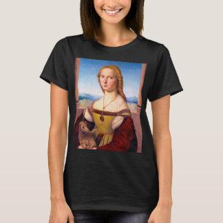 Lady with the Unicorn Raphael Santi portrait paint T-Shirt