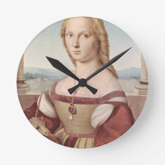 Lady with the Unicorn Raphael Santi Round Clock