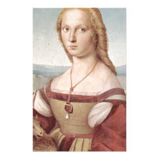 Lady with the Unicorn Raphael Santi Stationery