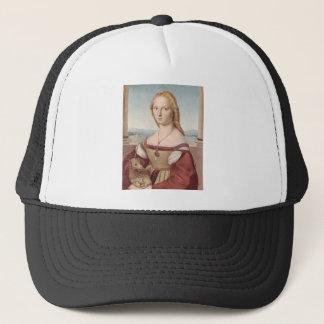 Lady with the Unicorn Raphael Santi Trucker Hat