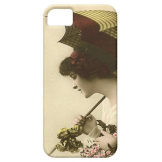 Lady with umbrella iPhone SE/5/5s case