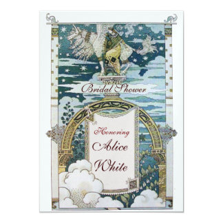 LADY WITH UNICORN BRIDAL SHOWER PARTY Ice Card