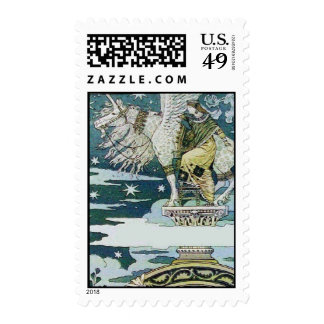 LADY WITH UNICORN POSTAGE STAMPS