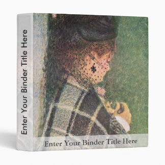 Lady With Veil By Pierre-Auguste Renoir Vinyl Binders