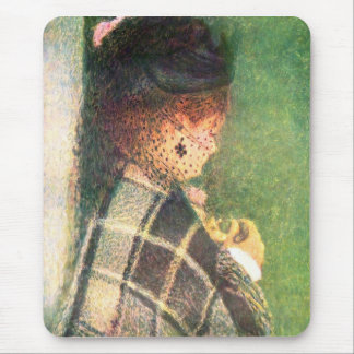 Lady with veil by Pierre Renoir Mouse Pad