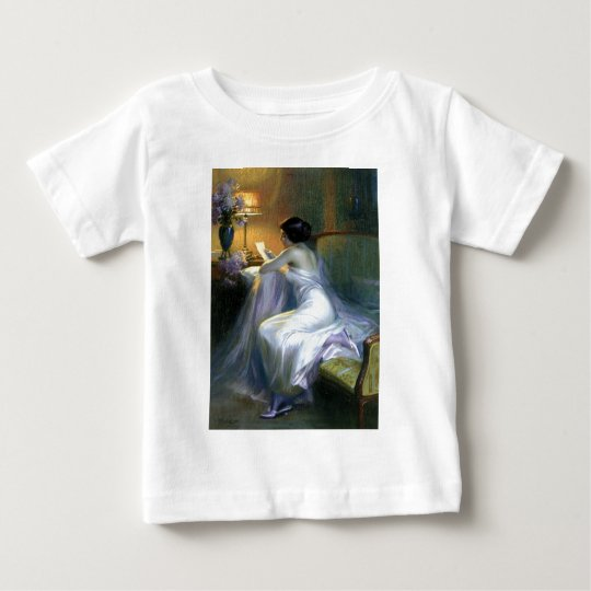 lady woman reading letter antique painting art baby T-Shirt