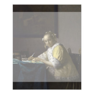 Lady Writing a Letter by Johannes Vermeer Full Color Flyer