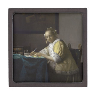 Lady Writing a Letter by Johannes Vermeer Premium Gift Box
