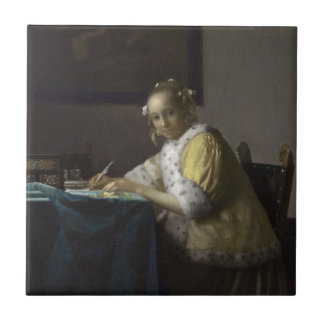 Lady Writing a Letter by Johannes Vermeer Tiles