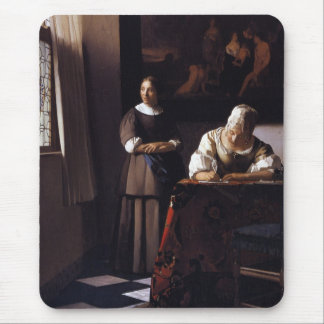 Lady Writing a Letter Mousepad