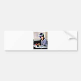 Lady Writting Letter antique painting Bumper Sticker