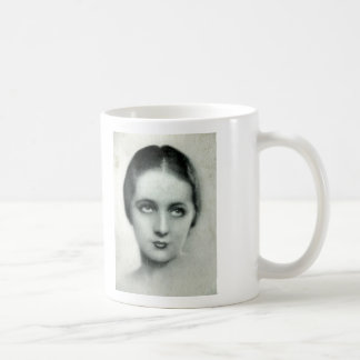 Lady years 20 classic white coffee mug