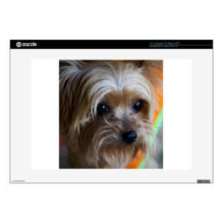 """Lady Yorkshire Terrier 15"""" Laptop Decals"""