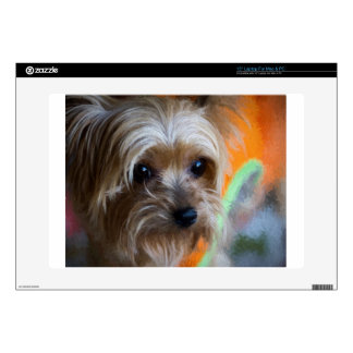 Lady Yorkshire Terrier Decals For Laptops