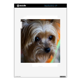 Lady Yorkshire Terrier Decals For The iPad 2