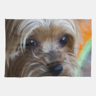 Lady Yorkshire Terrier Hand Towel