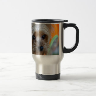 Lady Yorkshire Terrier Puppy Travel Mug