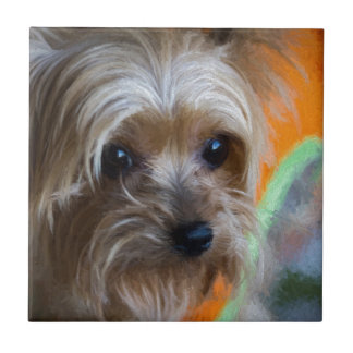 Lady Yorkshire Terrier Tile
