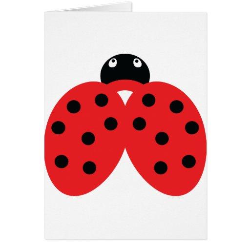 ladybeetle icon greeting card
