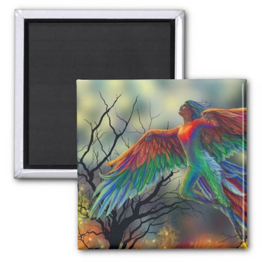 Ladybird 2 Inch Square Magnet