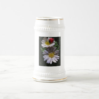 Ladybird and Daisies Beer Stein