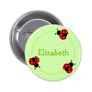 Ladybird badge/button pinback button