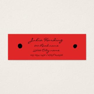 Ladybird black dots mini business card