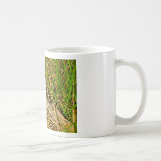 Ladybird in the grass picture classic white coffee mug