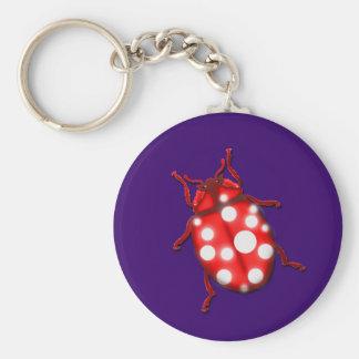 Ladybird Lady Bug Gardening Gifts Keychain