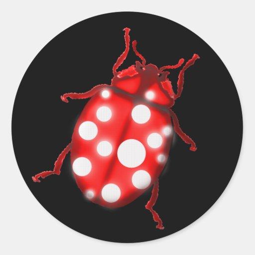 Ladybird Lady Bug Gardening Gifts Round Sticker