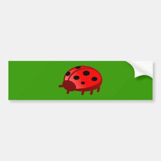 Ladybird lady nose bumper sticker