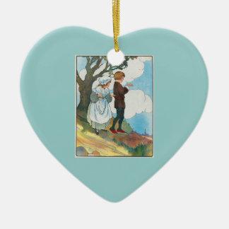 Ladybird, ladybird, fly away home! ceramic ornament