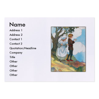 Ladybird, ladybird, fly away home! large business cards (Pack of 100)