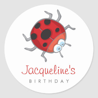 Ladybird / Ladybug Gift Party Favors Label Sticker
