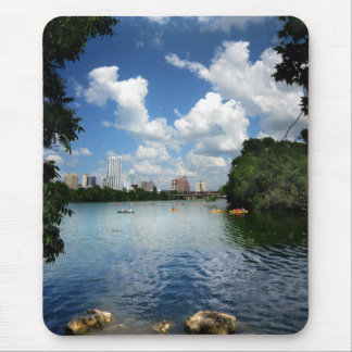 Ladybird Lake / Austin Texas Skyline 2 Mouse Pad