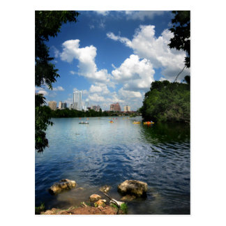 Ladybird Lake / Austin Texas Skyline 2 Postcard