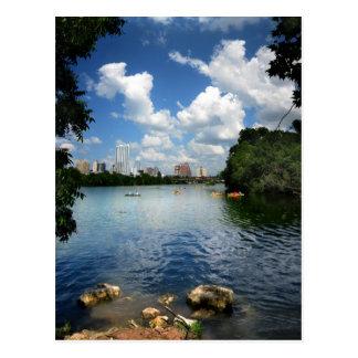 Ladybird Lake / Austin Texas Skyline 2 Postcard