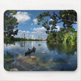 Ladybird Lake / Austin Texas Skyline 3 Mouse Pad