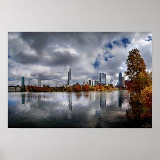 Ladybird Lake - Austin Texas Skyline 4 Poster