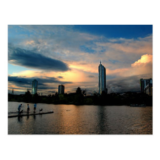 Ladybird Lake Dog Park Sunset Austin Texas Skyline Postcard