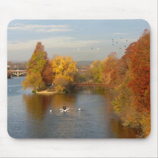 Ladybird Lake Fall Rower - Downtown Austin Texas Mouse Pad