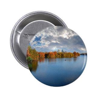 Ladybird Lake in the Fall - Austin, Texas Pinback Button