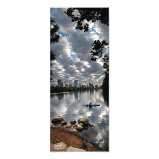 Ladybird Lake Kayak - Skyline - Austin Texas Photographic Print