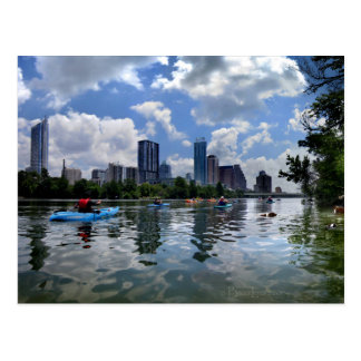 Ladybird Lake Kayaks and Dog Park - Austin, Texas Postcard